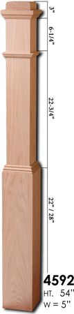 Adjustable hollow newel - goes over 4x4 post