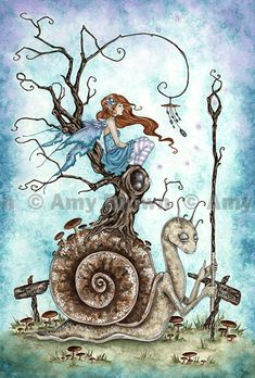 """The Great Snail"" PRINTS-LIMITED EDITION - Large Limited Editions - Amy Brown Fairy Art - The Official Gallery"