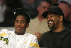 Posted by Bossip Staff Denzel Washington and his son hit up the Lakers game this weekend. We can't decide who he looks like, Denzel or Pauletta, but the handsome definitely runs in the family. All In The Family, We Are Family, Family First, Family Love, Black Fathers, Fathers Love, Father And Son, Celebrity Kids, Celebrity Workout
