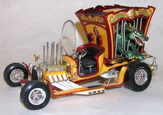 Dragon Wagon built-up model kit (1969). Designed by Tom Daniels. Made by Monogram.   Loved this activity.