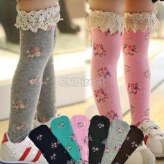 Girl Kid Sweet Princess Soft Knee High Straight Sock