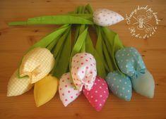 Jak  uszyć tulipany? - kurs, Jak  uszyć tulipany? DIY - 2 sposoby + wykrój do pobrania, Szablon, Szycie, Wielkanoc, Wiosna, Z tkaniny,