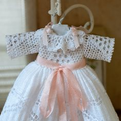 Miniature baby Christening coat-tail. Handmade. by MINIATURAFR