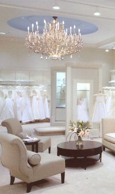 Pretty bridal shop! Love shopping in a place that feels clean and beautiful especially for a wedding dress