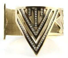 New House of Harlow Gold Pave Chevron Cuff Bracelet , http://www.amazon.com/dp/B007BMJUU6/ref=cm_sw_r_pi_dp_TbMHpb0S6SZGF