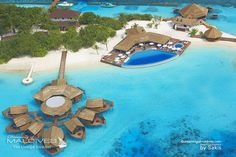 Lily Beach Maldives Resort aerial view