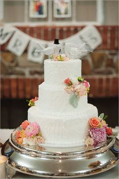 Classic Wedding Cake Ideas. I really like the perfectly messy icing on #19