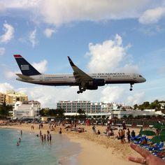 Maho beach. St. Maarten. March 2012.