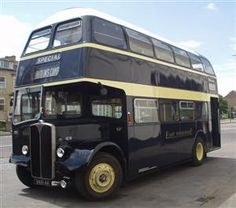 1956 AEC Regent V, with 56 seat Willowbrook body, in East Yorkshire Motor Services heritage fleet. Station Wagon, Richard Branson, Camper Caravan, Campers, Bus City, Automobile, Routemaster, East Yorkshire, Double Decker Bus