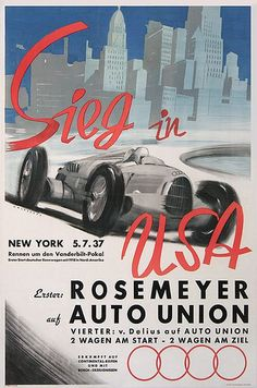 Auto Union - Sieg in USA 1937