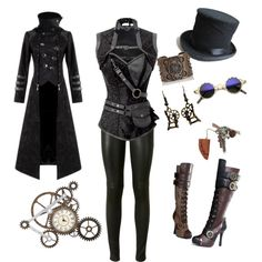 Steampunk!! by raven-darkheart-song on Polyvore featuring Hooded Trench, Yves Saint Laurent and Bottega Veneta