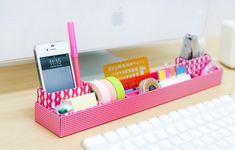 Organizacor de Escritorio/Desk Organizer #DIY #Inspiration