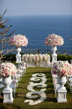 Pink flowers are perfect for a spring wedding.