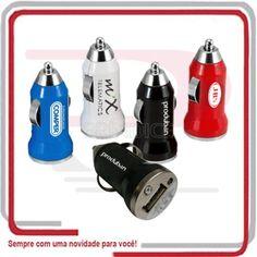Adaptador USB para carro personalizado www.brindice.com.br/brindes/acessorio-para-carro