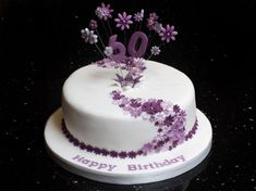 New birthday cake decorating fondant simple 24 ideas 90th Birthday Cakes, Birthday Cupcakes, Birthday Parties, 40th Cake, Birthday Ideas, Mum Birthday, Birthday Recipes, Birthday Pictures, Birthday Images