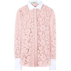 Valentino Acid Rose Chantilly Lace Blouse