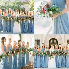 Gorgeous Dusty Blue Wedding Bridesmaid Dresses 2016 Spring Sweetheart Chiffon Simple Long Dresses For Bridesmaid Cheap Best Choose Steel Blue Bridesmaid Dresses, Dusty Blue Bridesmaid Dresses, Dusty Blue Weddings, Wedding Bridesmaids, Bridesmaid Bouquets, Wedding Dresses, Blue Beach Wedding, Beach Wedding Guests, Dream Wedding
