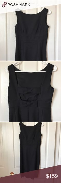 Kate spade Joyann dress brand new Brand new never worn Kate Spade little black dress with two bows on the back and close to knee length skirt kate spade Dresses