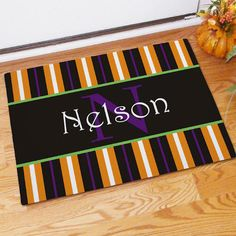Fall Inspired Name Doormat - Just Becuzz Inc.