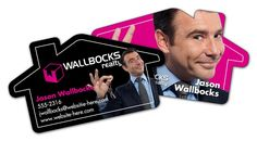 House Shaped Business Cards #Realtors
