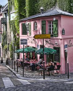 La Maison Rose photograph by Nikolyn McDonald Pink Cafe, Parisian Cafe, France Photography, French Cafe, French Restaurants, Cafe Shop, Photos Voyages, Shop Fronts, Pink Houses