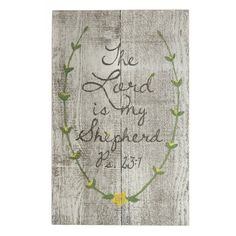 Lovely wood sign featuring a loved Bible verse - perfect for the porch overlooking the garden.