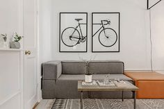 Perfecte woonkamer van een klein appartement