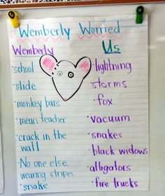 wemberly worried activities - Google Search More
