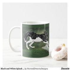 Black and White Splash Overo Horse Coffee Mug