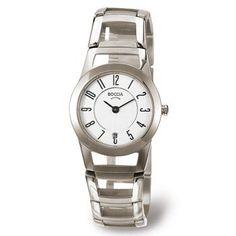 3140-01 Boccia Titanium Ladies Watch Boccia Titanium. $155.00. Water-Resistant to 99 feet. All Titanium. 2 Year Warranty. 27.5mm Case. Hypoallergenic