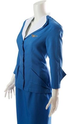 Stewardess Costume, Pan Am, Flight Attendant, Soft Fabrics, Bell Sleeve Top, Feminine, Dresses For Work, Glamour, Costumes