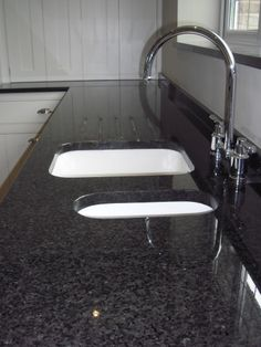 Black Pearl Granite Kitchen Countertop Island Finished Installed Granix 5