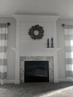 35 Popular Farmhouse Fireplace Decor Ideas And Remodel. If you are looking for Farmhouse Fireplace Decor Ideas And Remodel, You come to the right place. Below are the Farmhouse Fireplace Decor Ideas . Fireplace Update, Shiplap Fireplace, Home Fireplace, Fireplace Remodel, Fireplace Surrounds, Fireplace Design, Fireplace Ideas, Stone Fireplaces, Black Fireplace
