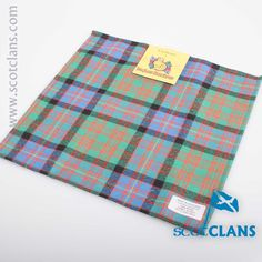 Cochrane Ancient Tartan Pocket Square. Free worldwide shipping available