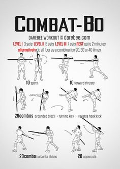 Combat Bo Workout. Awesome workout for any Kobudo or other staff trainers.