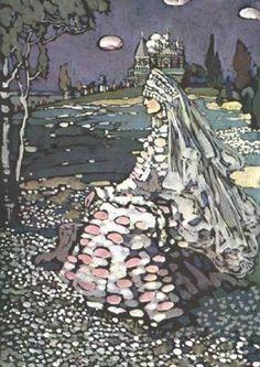Beauté russe dans un paysage, par Wassily Kandinsky