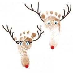 Reindeer foot prints! So cute!