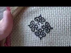 Blackwork embroidery. A step by step guide - YouTube