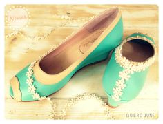 a0572bd99 Custom made  wedding  shoes by Quiero June Zapatos De Boda