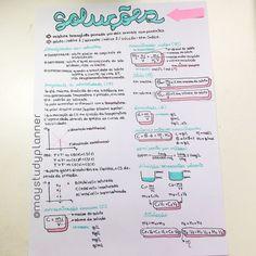 Bom dia! Como prometido no @maystudyplanner, aqui está o resumo de Soluções completo Cute Handwriting, Mental Map, Study Cards, Chemistry Notes, Notebook Organization, Lettering Tutorial, Study Inspiration, Studyblr, Study Notes