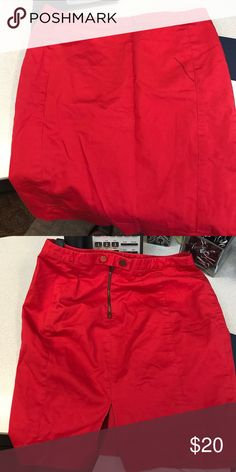 Express Red Skirt Size 4 Express Red Skirt *reposhing* Express Skirts Midi