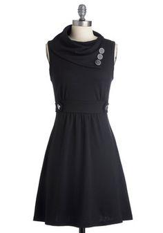Coach Tour Dress in Noir