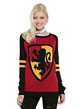 Harry Potter Gryffindor Girls Pullover Top, BLACK (SIDE NOTE: ALSO ON DADS XMAS LIST)
