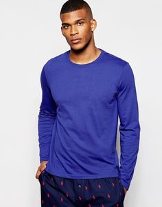 "Top by Polo Ralph Lauren Soft-touch jersey Crew neck Embroidered logo Regular fit - true to size Machine wash 100% Cotton Our model wears a size Medium and is 188cm/6'2"" tall"