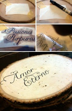 DIY wood transfer tutorial.  Could use this for table numbers or house number sign