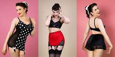 5 Choices for Plus Size Pinup Shapewear (Sizes 2X Thru 8X) -http://www.thelingerieaddict.com/2013/10/plus-size-pinup-shapewear-2x-and-above.html (Photo of Joanna's Wardrobe Lingerie)