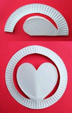 Good Valentines craft, this would be great to serve your boyfriend a piece of cake on with his valentines dinner