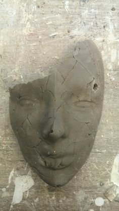 OWN WORK. So this is one of the 25 faces I've made for my Sculpture AS final piece.