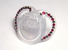 Baby Bling Black Diamond and Red Swarovski Crystal by LoloLally, $16.00