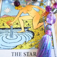 rainbow fluorite mala and the star tarot card. spiritual renewal and clarity. Star Tarot, Spiritual Life, Tarot Cards, Clarity, Spirituality, Rainbow, Make It Yourself, How To Make, Jewelry
